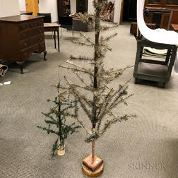 """Two """"Feather Tree"""" Christmas Trees"""