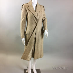 Bill Blass Camel Wool Coat and Skirt
