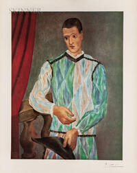 After Pablo Picasso (Spanish, 1881-1973)      Harlequin, 1907