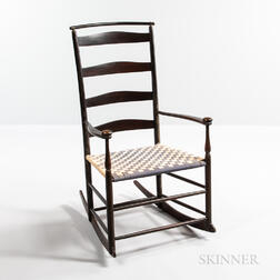 """Shaker """"No. 6"""" Production Armed Rocking Chair"""