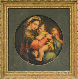After Raphael (Italian, 1483-1520)      Copy of Madona della Sedia   (Madonna of the Chair)