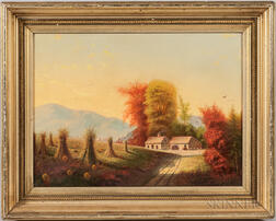American School, 19th Century       Autumn New England Landscape