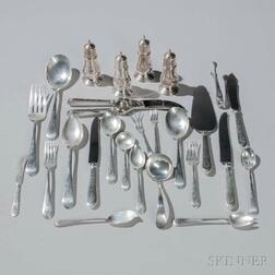 "Lunt ""Treasure"" Pattern Sterling Silver Flatware Service"