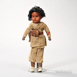 Jumeau Black Bisque Doll