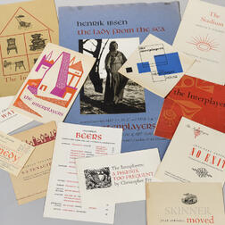 Letterpress Printing, a Collection of Broadsides and Other Ephemera Printed by Adrian Wilson (1923-1988), 1940s-50s.