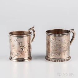 Two American Silver Christening Cups