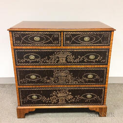 Maitland-Smith Chippendale-style Leather-clad Mahogany Chest of Drawers