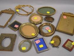 Group of Fourteen Small Metal Picture Frames