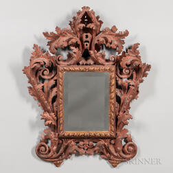 Continental Baroque-style Painted Mirror