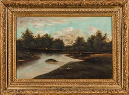 American School, 19th Century    Landscape with a Quiet River