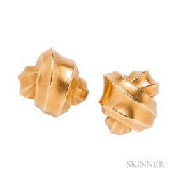 18kt Gold Earclips, Angela Cummings