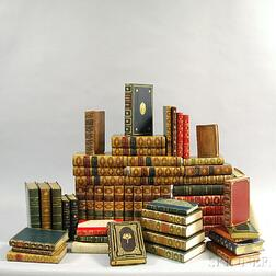 Decorative Bindings, Sets, Fifty-six Leather-bound Volumes: