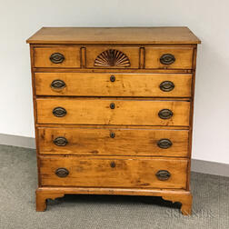 Queen Anne Fan-carved Maple Chest of Drawers