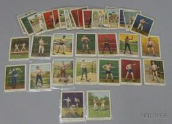Thirty-three Mecca Cigarettes Champion Athlete and Prize Fighter Series Cards
