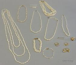 Small Group of Assorted Cultured and Freshwater Pearl Jewelry