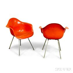 Pair of Charles and Ray Eames DCM Armchairs