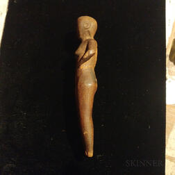 Carved Chippewa Love Charm in the Figure of a Woman