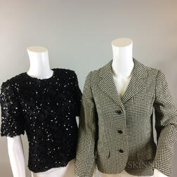 Four Pieces of Black Bill Blass Clothing