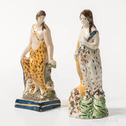 Pair of Pearlware Staffordshire Figures