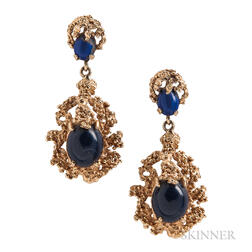 14kt Gold and Sodalite Earrings