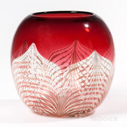 Durand Pulled Feather Glass Vase