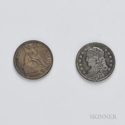 1835 and 1862 Half Dimes