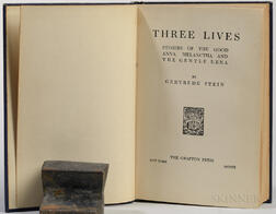 Stein, Gertrude (1874-1946) Three Lives  , First Edition.