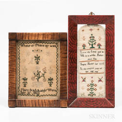 Two Small Needlework Samplers