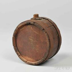 Revolutionary War Continental Army Iron-banded Drum Canteen