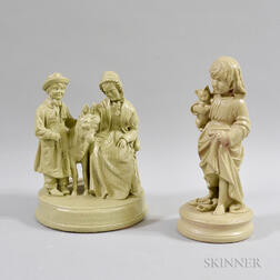Two Plaster Rogers-type Figures