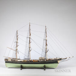 Carved and Painted Wood Ship Model of the Sovereign of the Sea