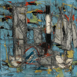 Claude Venard (French, 1913-1999)    Abstraction
