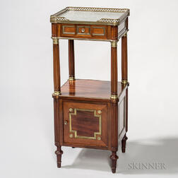 Neoclassical Mahogany and Marble-top Commode