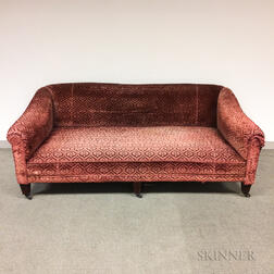 Velvet-upholstered Sofa