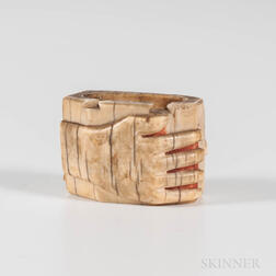 Eskimo Carved Container