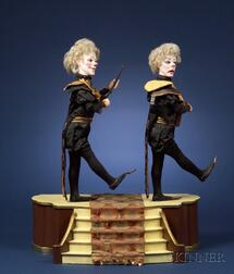 Vichy Automaton Depicting Comedy & Tragedy or Les Clownes Insolentes
