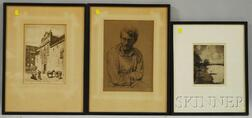 Lot of Three Prints:      Arthur William Heintzelman (American, 1891-1965), Portrait of a Man