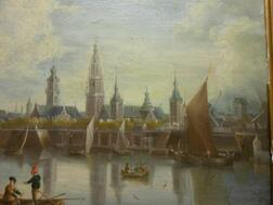 Flemish School, 18th Century      View of the River Schjeldt at Antwerp