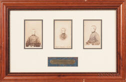 Three Framed Joseph Hooker Carte-de-visites