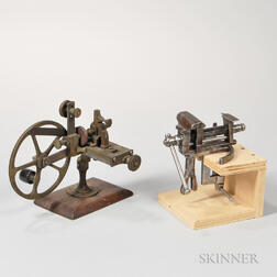 19th Century Rounding-up Tool and a Bench Vise