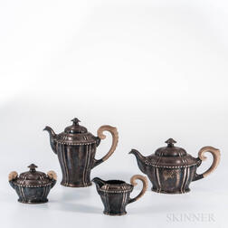 Four-piece German .800 Silver Tea and Coffee Service