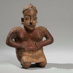 Jalisco Kneeling Female Figure