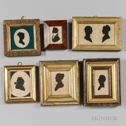 Seven Silhouette Portraits in Six Frames
