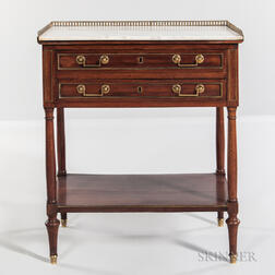 Louis XVI-style Two-drawer Table