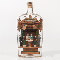"Carl Worner ""Harris and Fasnacht Saloon"" Glass Bottle Whimsey Diorama"