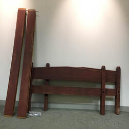 Country Red-painted Chestnut Bed