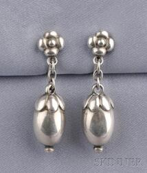 Sterling Silver Earpendants, Georg Jensen