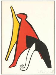 Alexander Calder (American, 1898-1976)      Stabile with White Foot