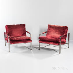 Two Milo Baughman for Thayer Coggin Lounge Chairs
