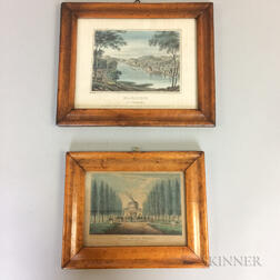 Two Framed Hand-colored Prints of Philadelphia